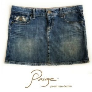 Paige Fairfax Flap Pocket Mini Skirt Sz 29